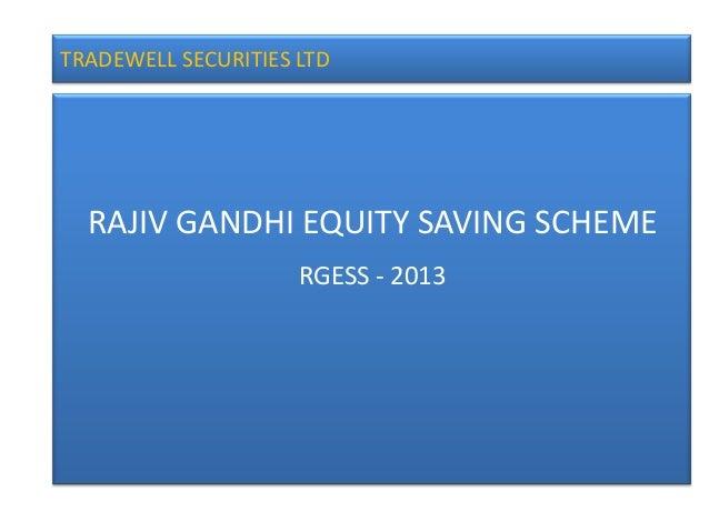 Rajiv Gandhi Equity Savings Scheme RGESS
