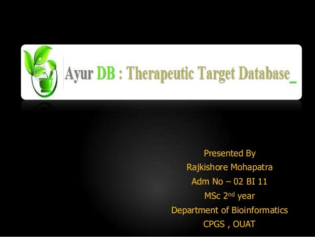 Presented By Rajkishore Mohapatra Adm No – 02 BI 11 MSc 2nd year Department of Bioinformatics CPGS , OUAT