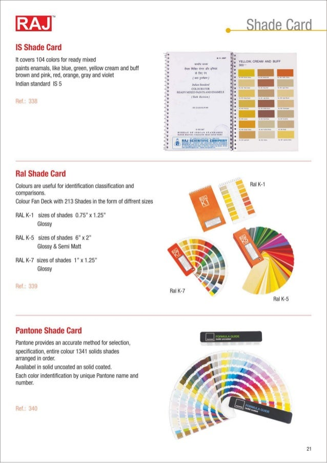 Dissolved Oxygen Color Chart IS Shade card It covers 104