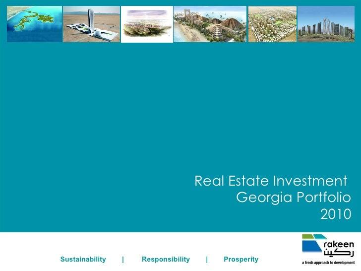 Real Estate Investment  Georgia Portfolio 2010