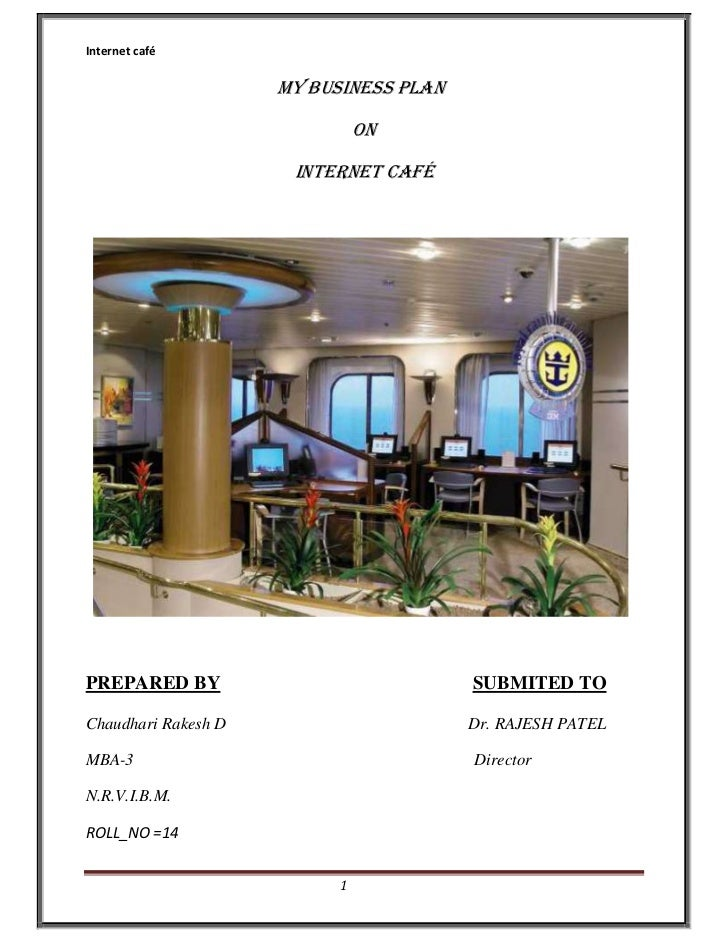 how to make an internet cafe business plan