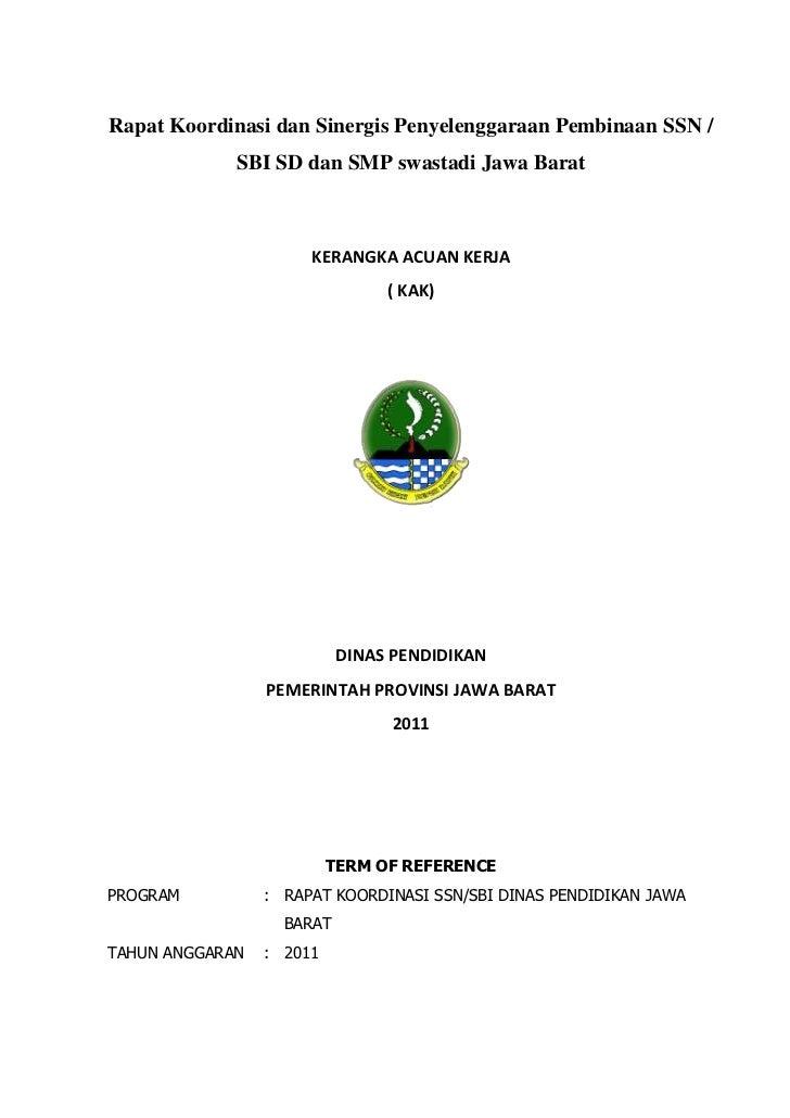 Rapat Koordinasi dan Sinergis Penyelenggaraan Pembinaan SSN /             SBI SD dan SMP swastadi Jawa Barat              ...
