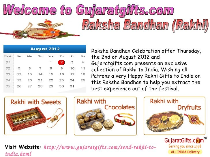 Raksha Bandhan Celebration offer Thursday,                                the 2nd of August 2012 and                      ...