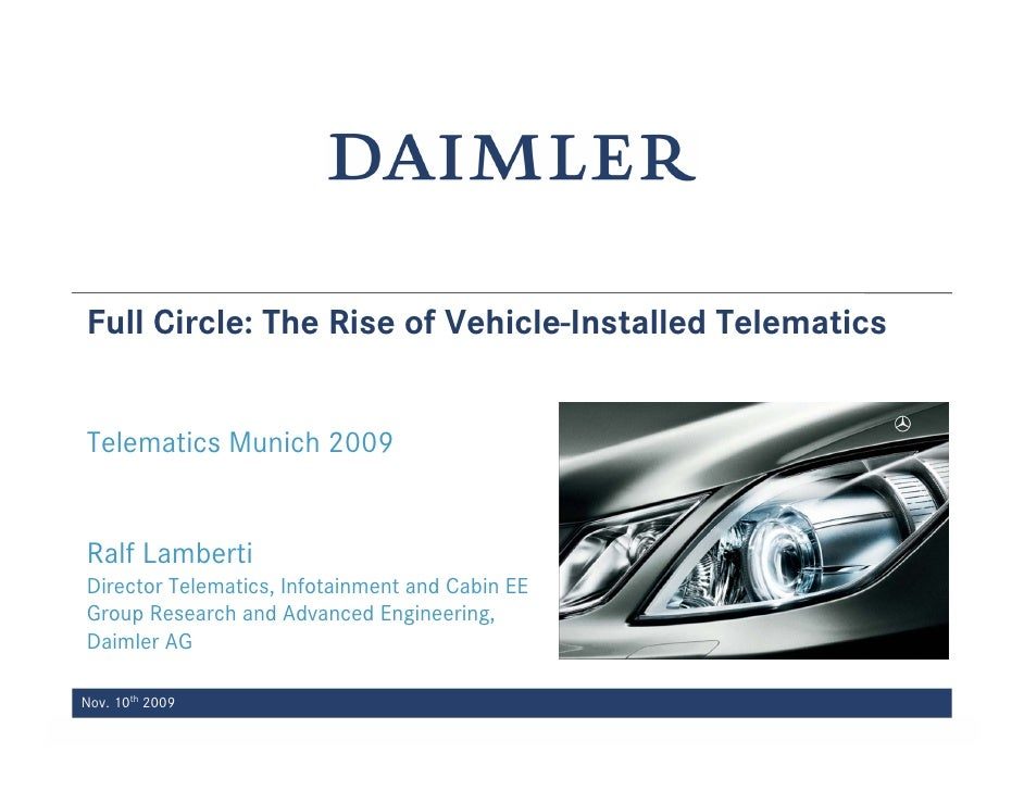 Full Circle: The Rise of Vehicle-Installed Telematics