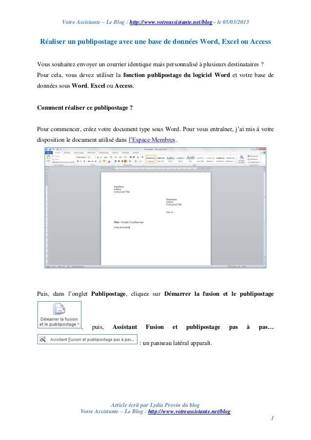 Votre Assistante – Le Blog : http://www.votreassistante.net/blog - le 05/03/2013 Article écrit par Lydia Provin du blog Vo...