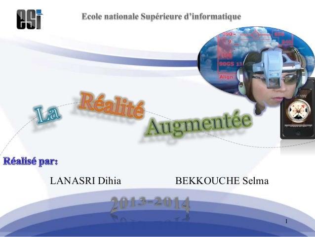 LANASRI Dihia BEKKOUCHE Selma 1