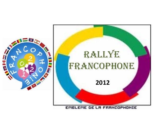 RALLYEFRANCOPHONE2012