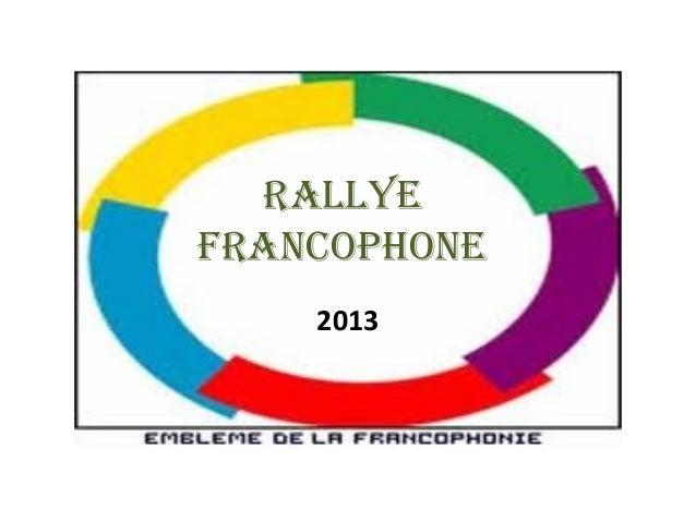 RALLYEFRANCOPHONE2013