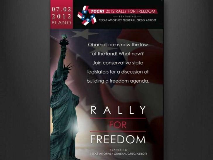 TCCRI Rally for Freedom Presentation