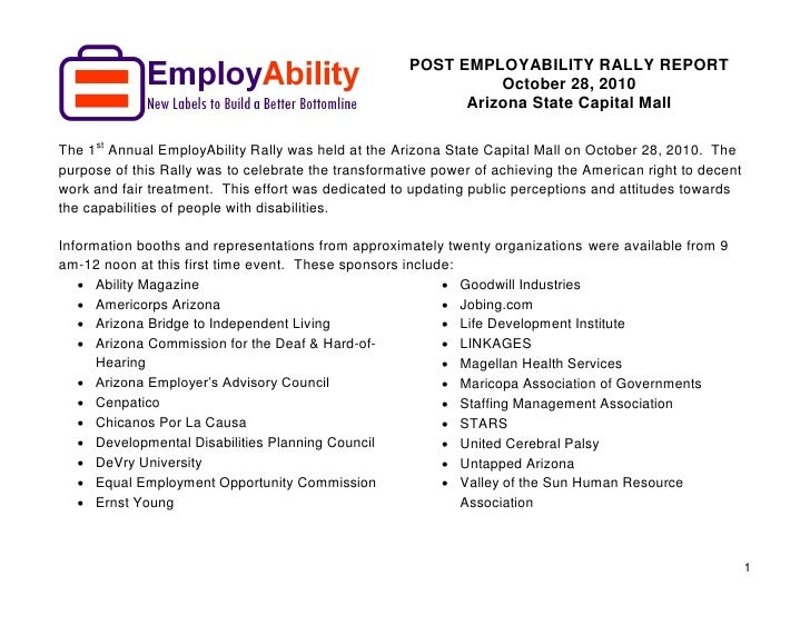 EmployAbility Post Rally Report