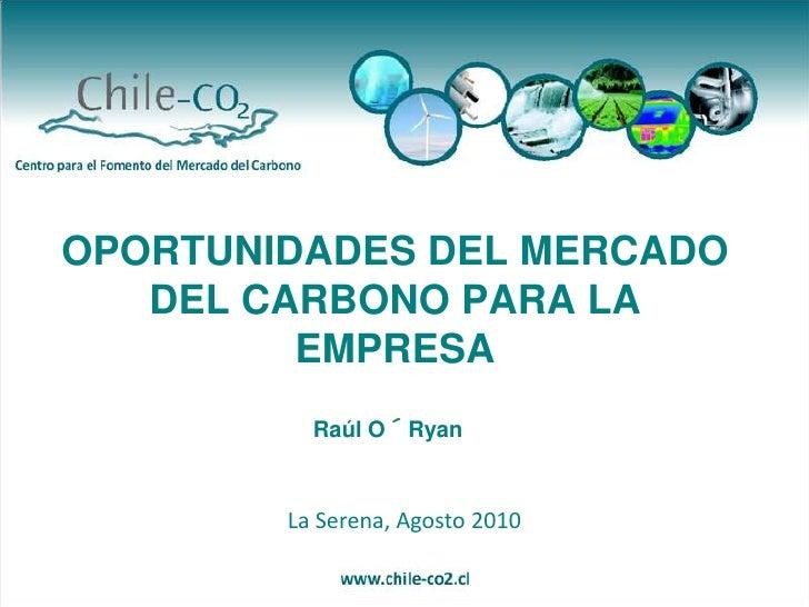 Oportunidades del Mercado de Carbono para la Empresa