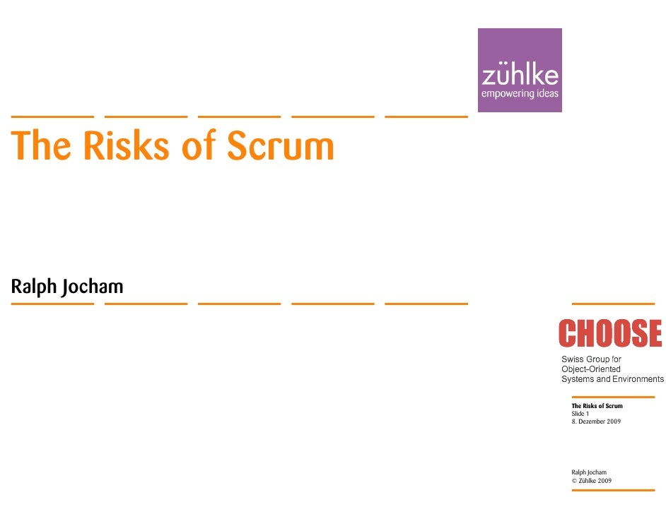 Ralph Jocham The Risks Of Scrum