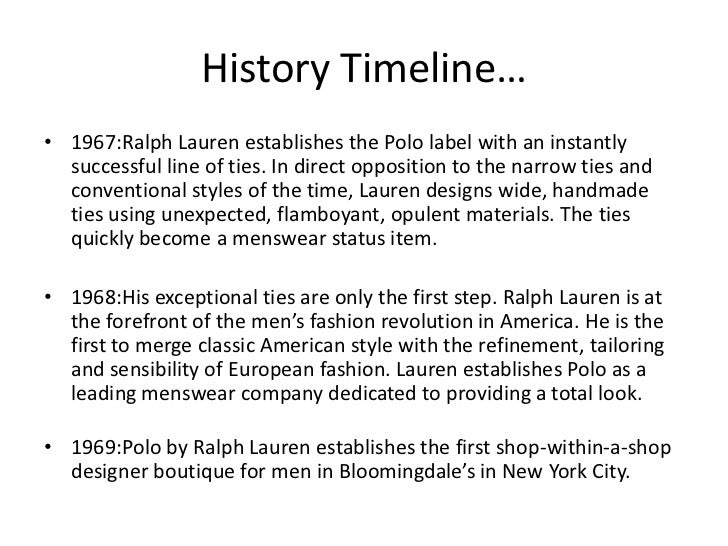 financial analysis for ralph lauren corporation The polo ralph lauren corporation - swot analysis company profile is the essential source for top-level company data and information polo ralph lauren corpora.