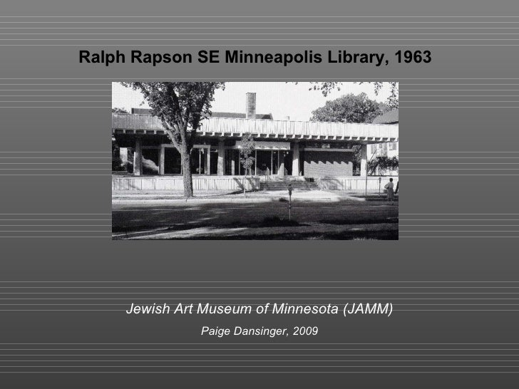 Ralph Rapson Se Library For Jamm Site