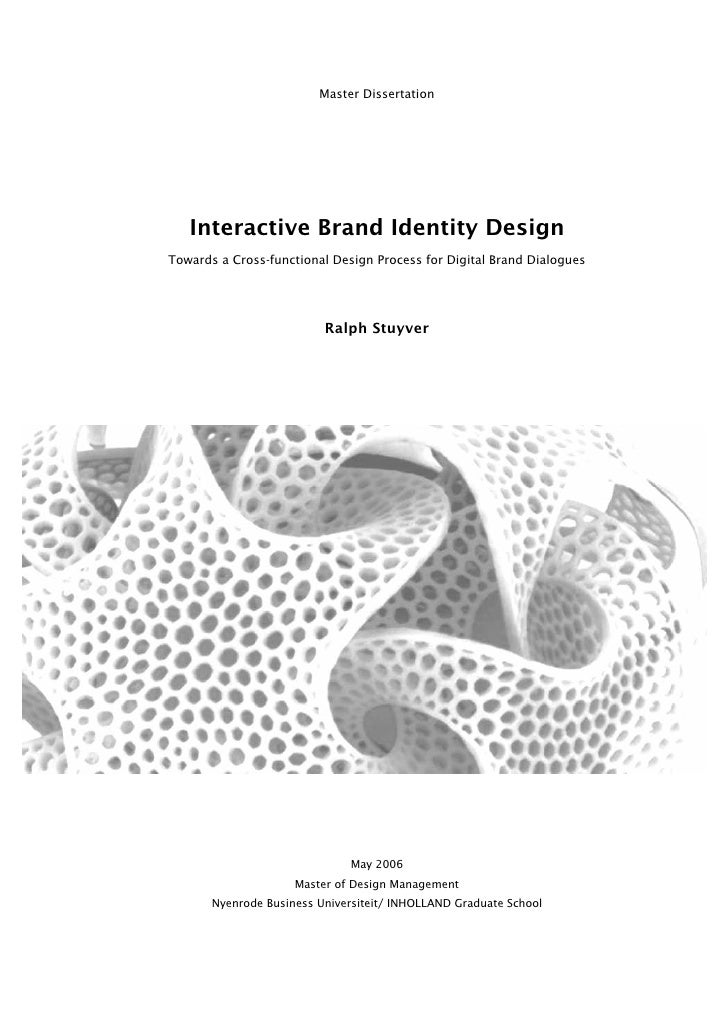 Master Dissertation        Interactive Brand Identity Design Towards a Cross-functional Design Process for Digital Brand D...