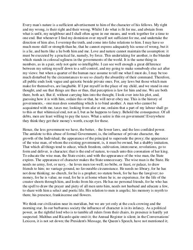 Experience essay by ralph waldo emerson
