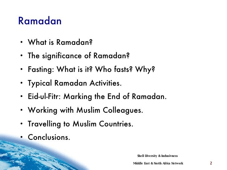 Ramadan essay topics