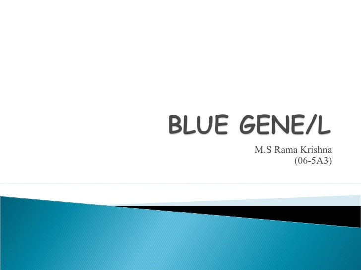Rama krishna ppts for blue gene/L