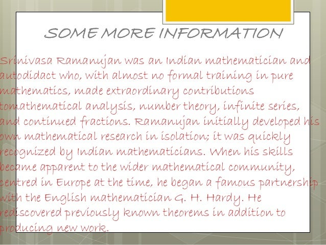 the famous mathematicians facts and information What are interesting facts about mathematicians galois is famous among mathematicians for there are lots of interesting facts about mathematicians.