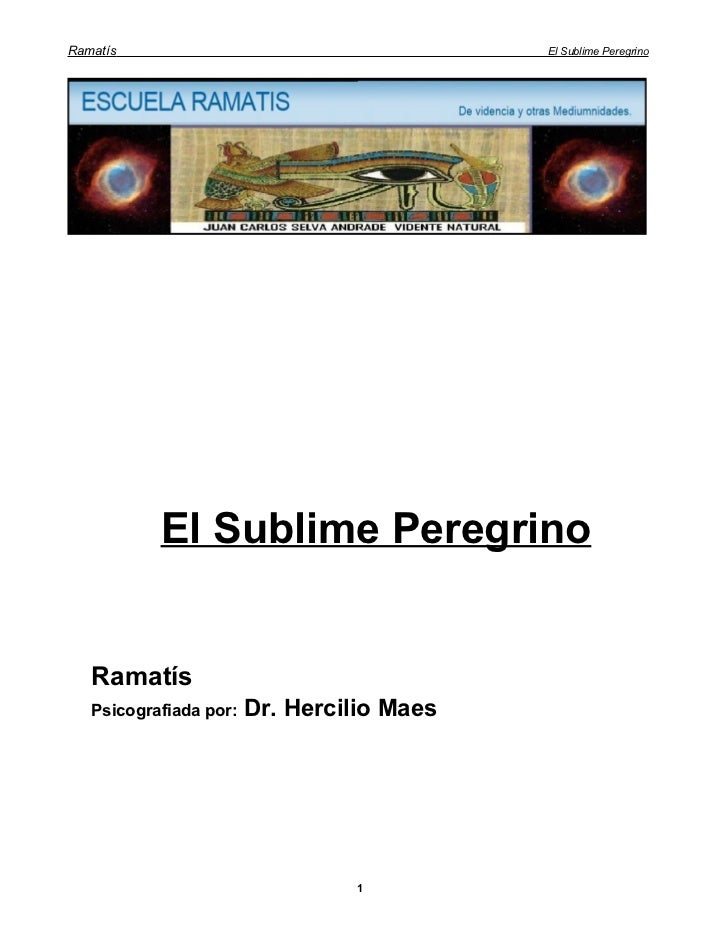 Ramatís                                     El Sublime Peregrino           El Sublime Peregrino   Ramatís   Psicografiada ...