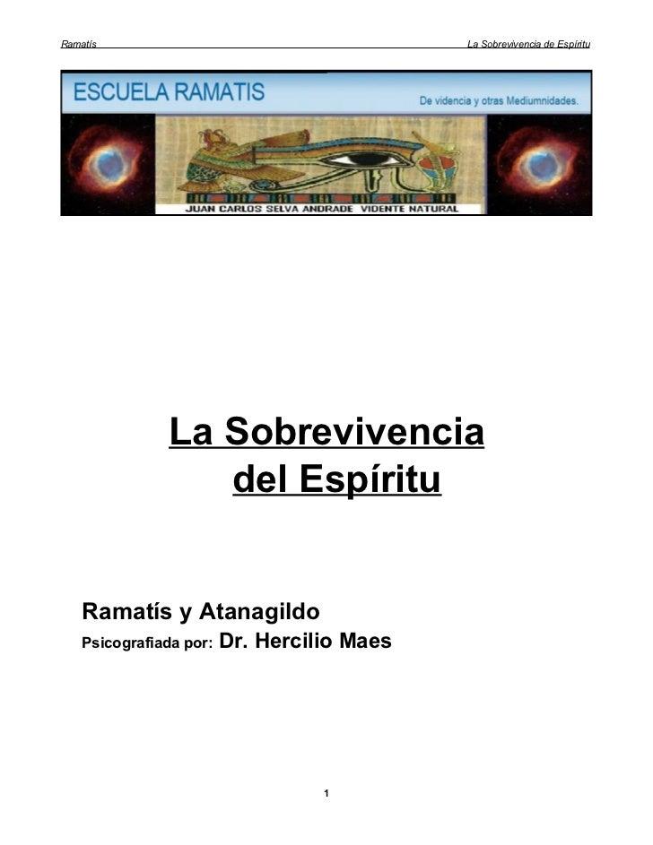 Ramatís                                      La Sobrevivencia de Espíritu               La Sobrevivencia                  ...