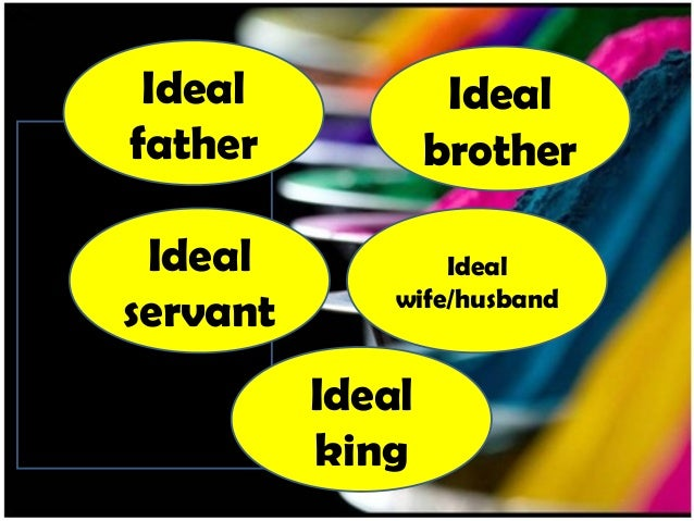 Ideal father Ideal servant Ideal brother Ideal wife/husband Ideal king