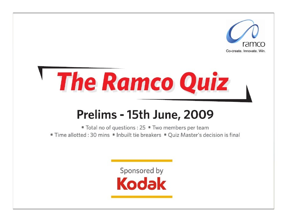 Ramco Systems Quiz
