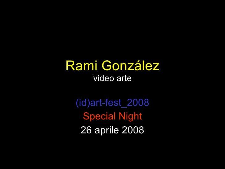 Rami GonzáLez