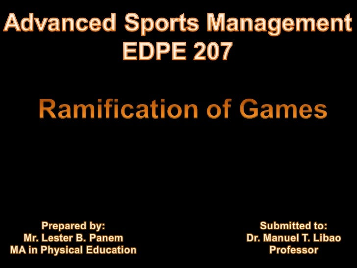 Ramification of games_round robin_by Lester B. Panem