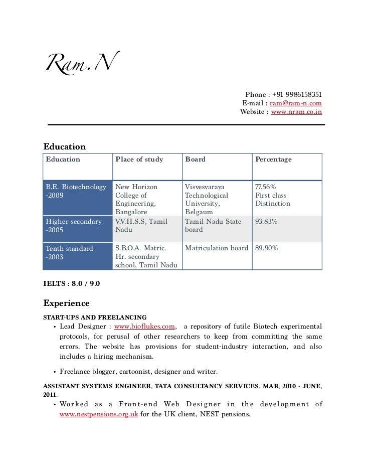 Ram.N Resume
