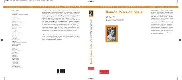 Viajes,crónicas e impresiones de Ramón Pérez de Ayala