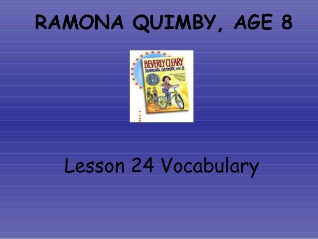 Ramona   vocabulary ppt 2