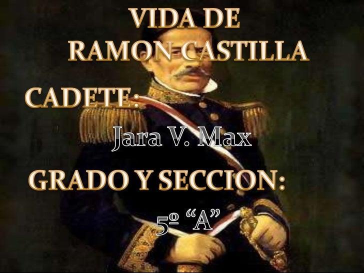 """VIDA DERAMON CASTILLA<br />CADETE:<br />Jara V. Max<br />GRADO Y SECCION:<br />5º """"A""""<br />"""