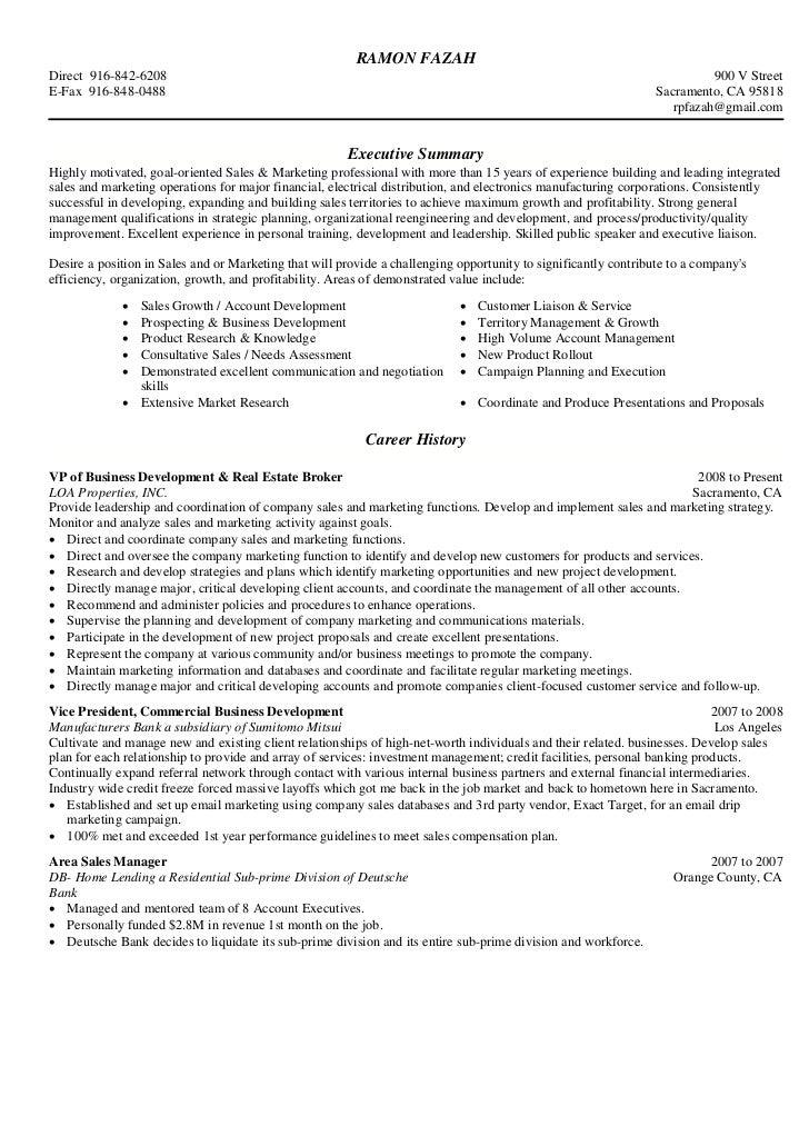 Personal banker sample resume