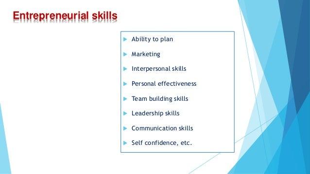 entrepreneurial skills and the entrepreneurial instinct essay