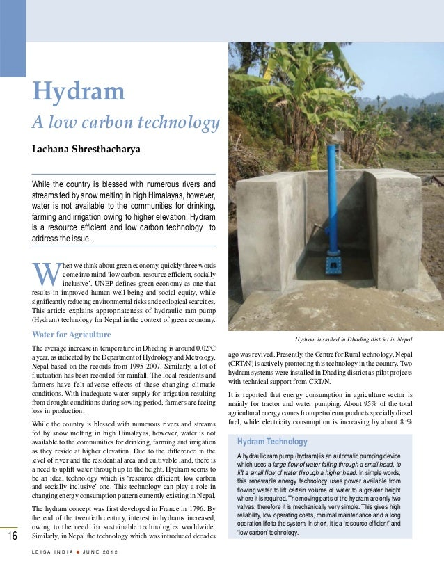 Hydram: A Low Carbon Technology - Lachana Shresthacharya