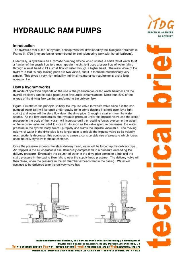 Hydraulic Ram Pumps - Technical Brief -  Natural Resources Conservation Service