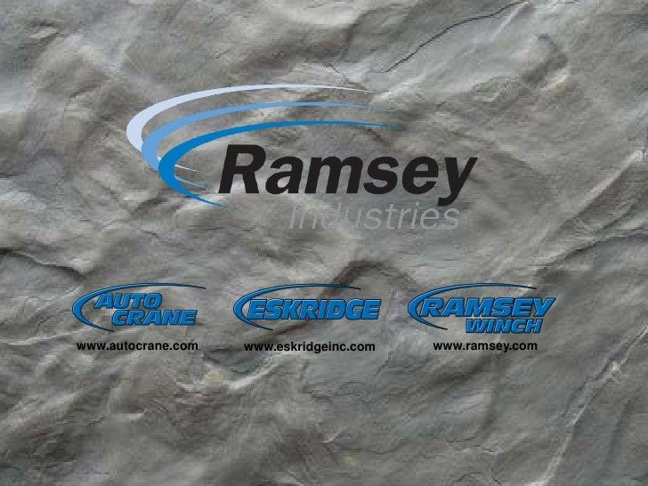 www.autocrane.com   www.eskridgeinc.com   www.ramsey.com