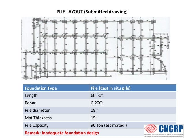 Pile Layout Drawing Pile Layout Submitted