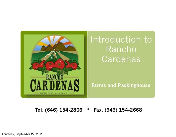 Introduction to                                               Rancho                                              Cardenas...