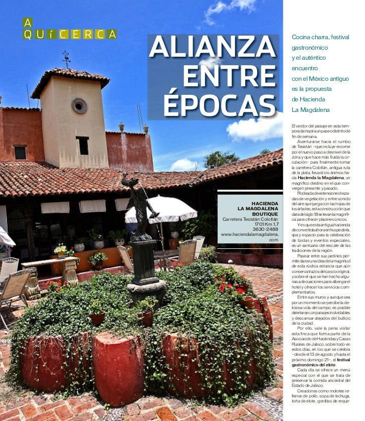 aq u í c e r c a                  AliAnzA                                                   Cocina charra, festival       ...