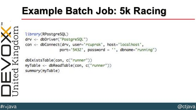 Batch Job 5k Racing 54  R Batch Jobs