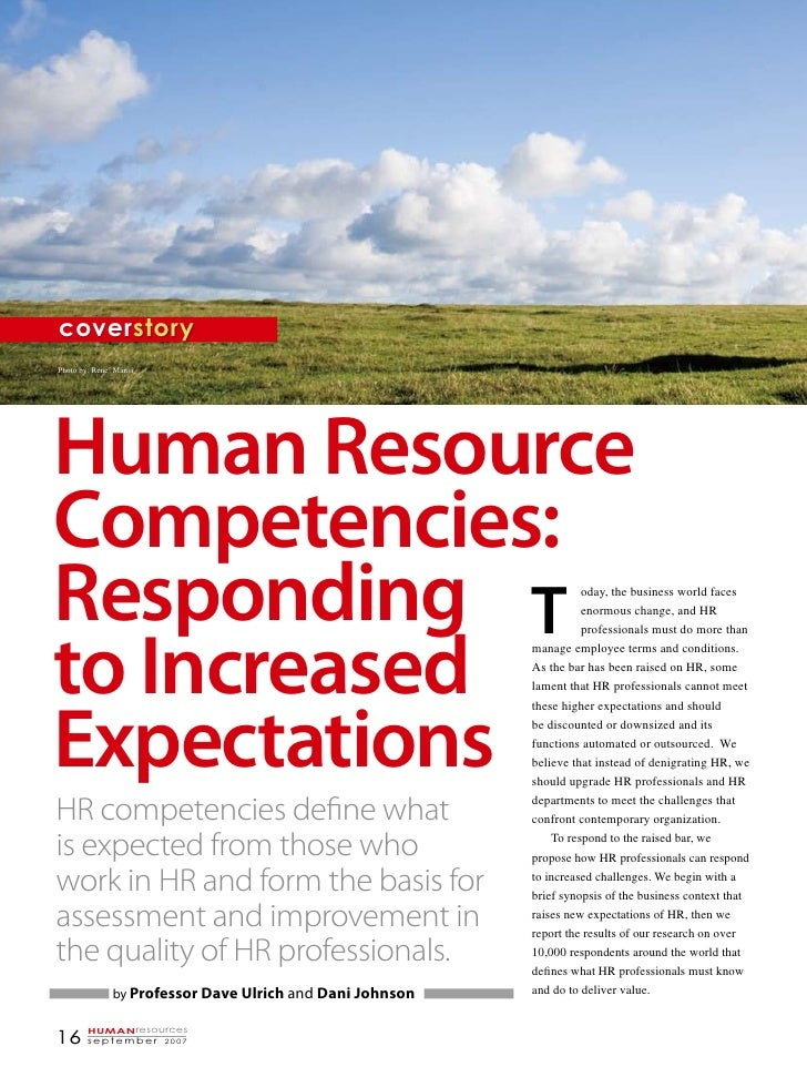 coverstory Photo by: René Mansi     Human Resource Competencies: Responding T                                            ...