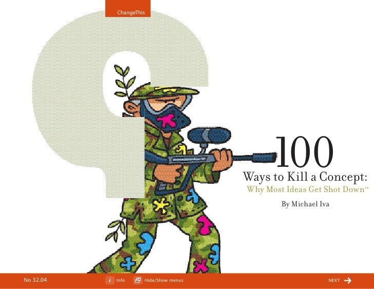100 ways to kill a concept