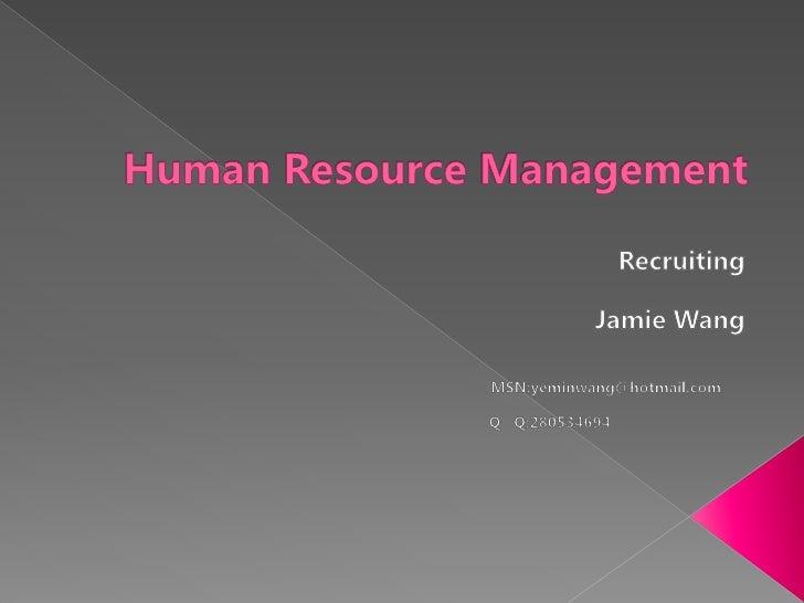 人力资源管理 招聘篇 英文版