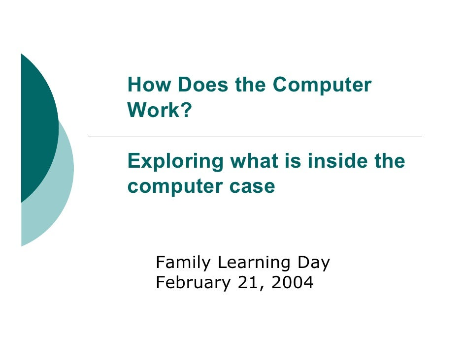 How Does the Computer Work?  Exploring what is inside the computer case     Family Learning Day   February 21, 2004