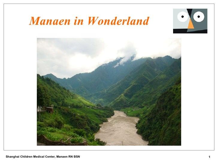 Manaen in Wonderland Shanghai Children Medical Center, Manaen RN BSN