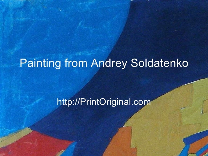 Painting from Andrey Soldatenko Print Shop Print Original