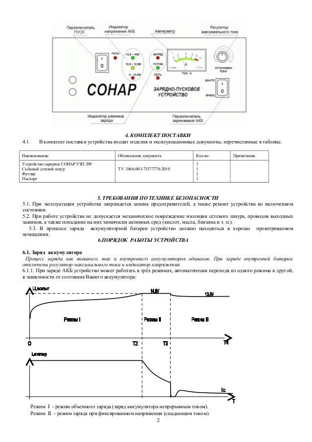 Устройство зарядное СОНАР