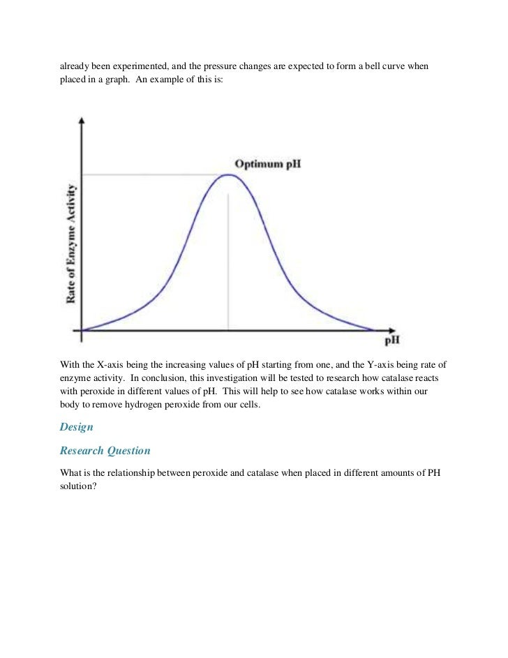 an analysis and experiment the temperatures influence on the breakdown of hydrogen peroxide by the e